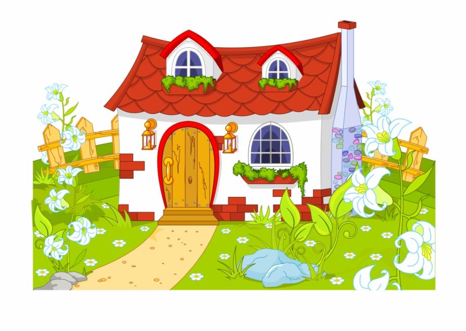 Clip art transparent fairytale. Houses clipart garden