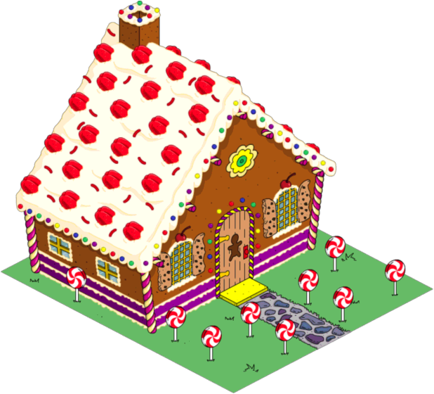 Gingerbread clipart walking. House the simpsons tapped