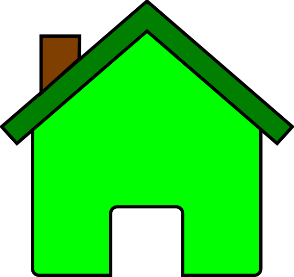 Houses clipart green. House clip art at