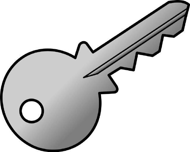 gold clipart keyhole