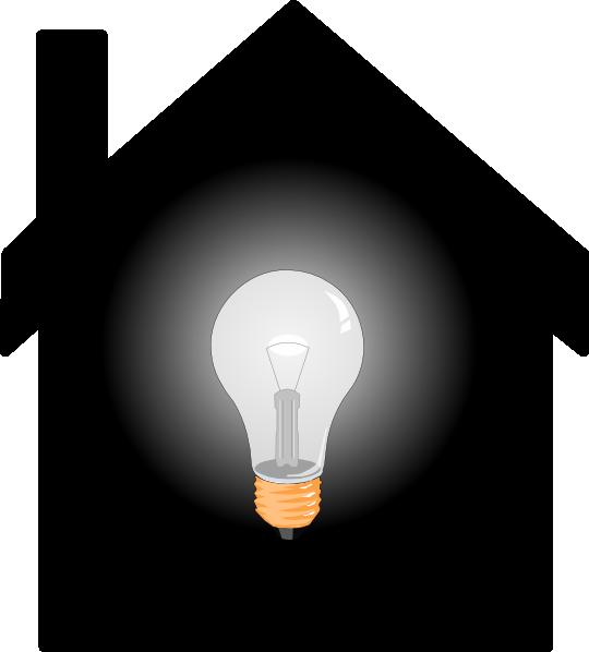 Bulb clip art at. Lamp clipart house