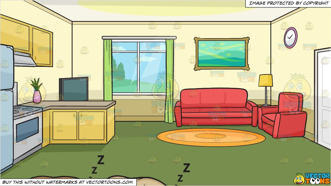 Let sleeping dogs lie. Houses clipart living room