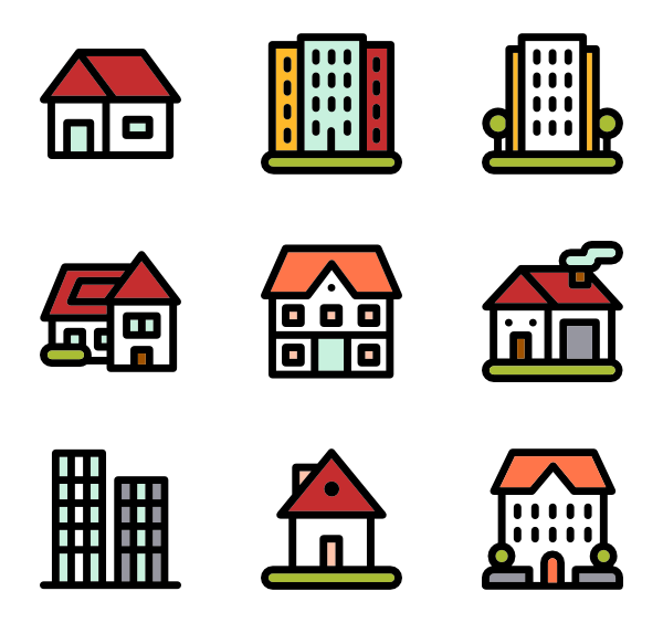 houses clipart collapse