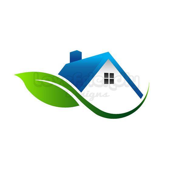 With logo clip art. Clipart leaf house