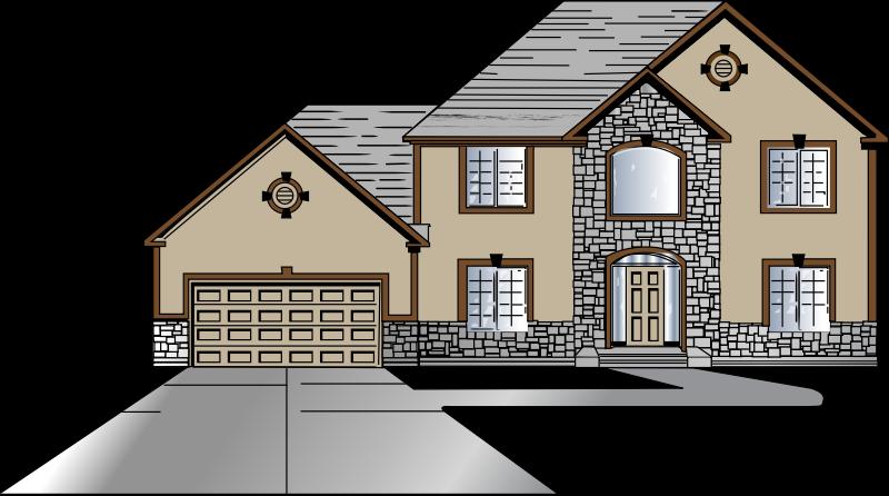 Houses clipart driveway. House design front big