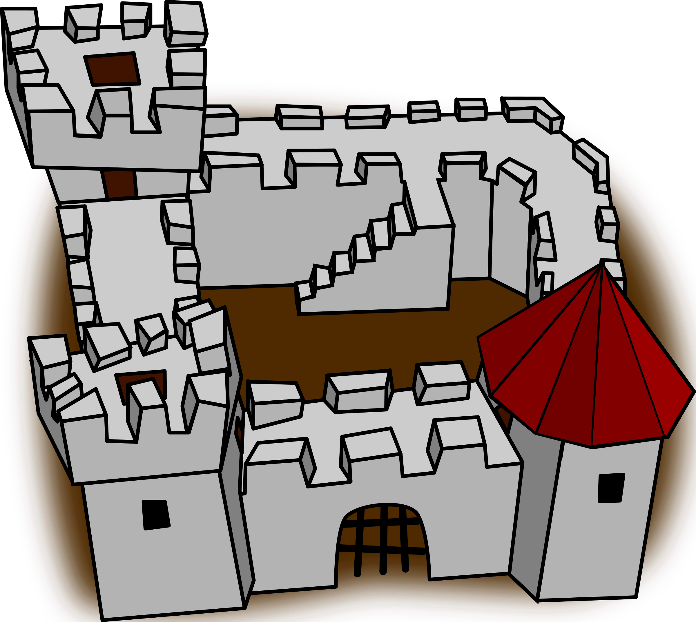 Palace clipart fort. Cartoon comic fortress stronghold