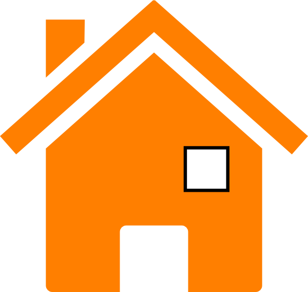 In clip art at. Clipart house orange