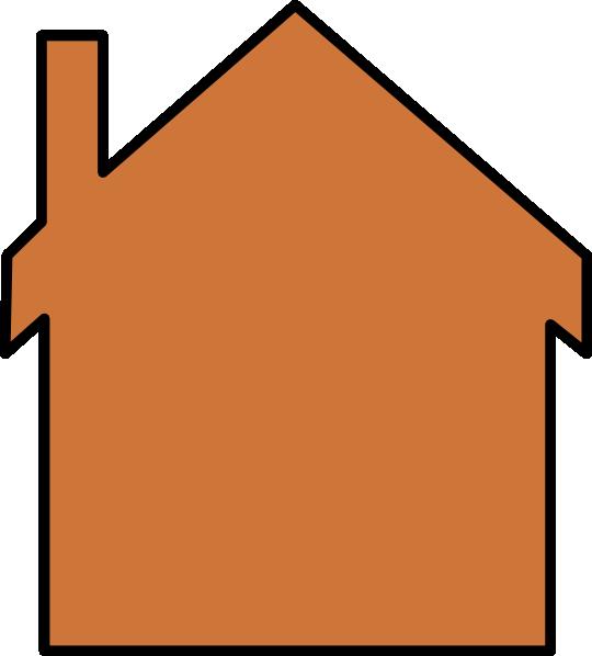 Clip art at clker. Clipart house orange