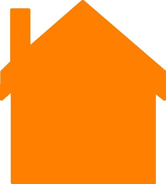 Clipart house orange. Clip art at clker
