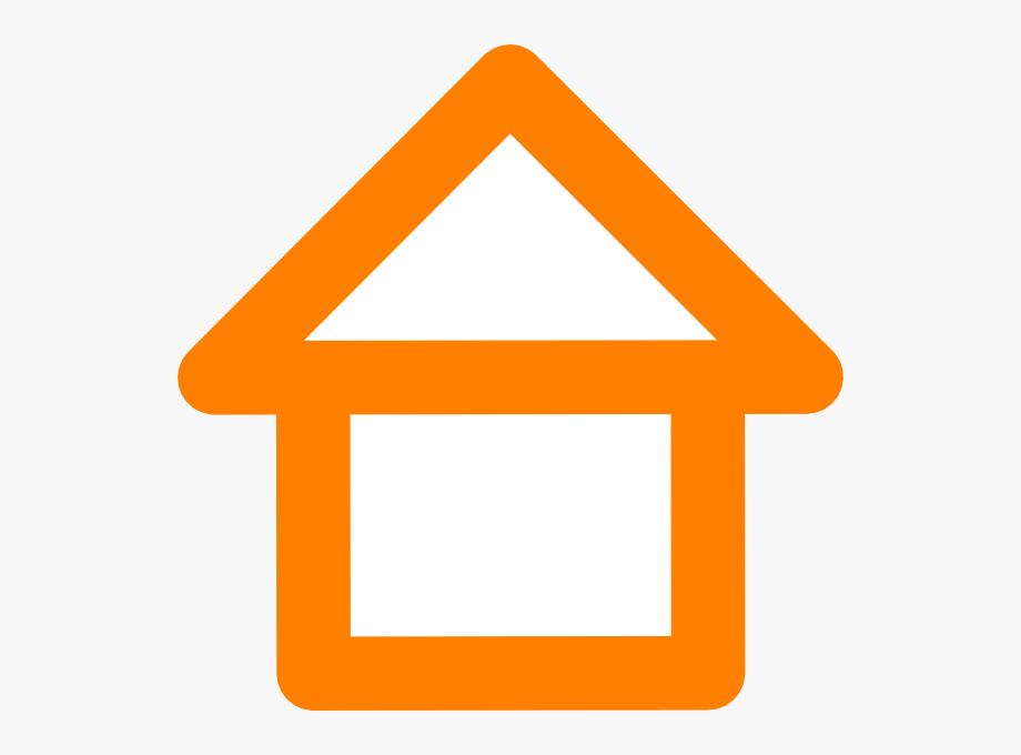 Outline clip art . Clipart house orange