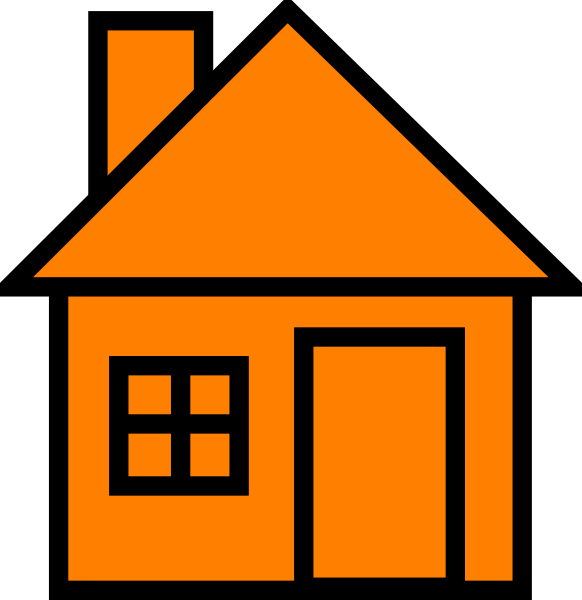 clipart house orange