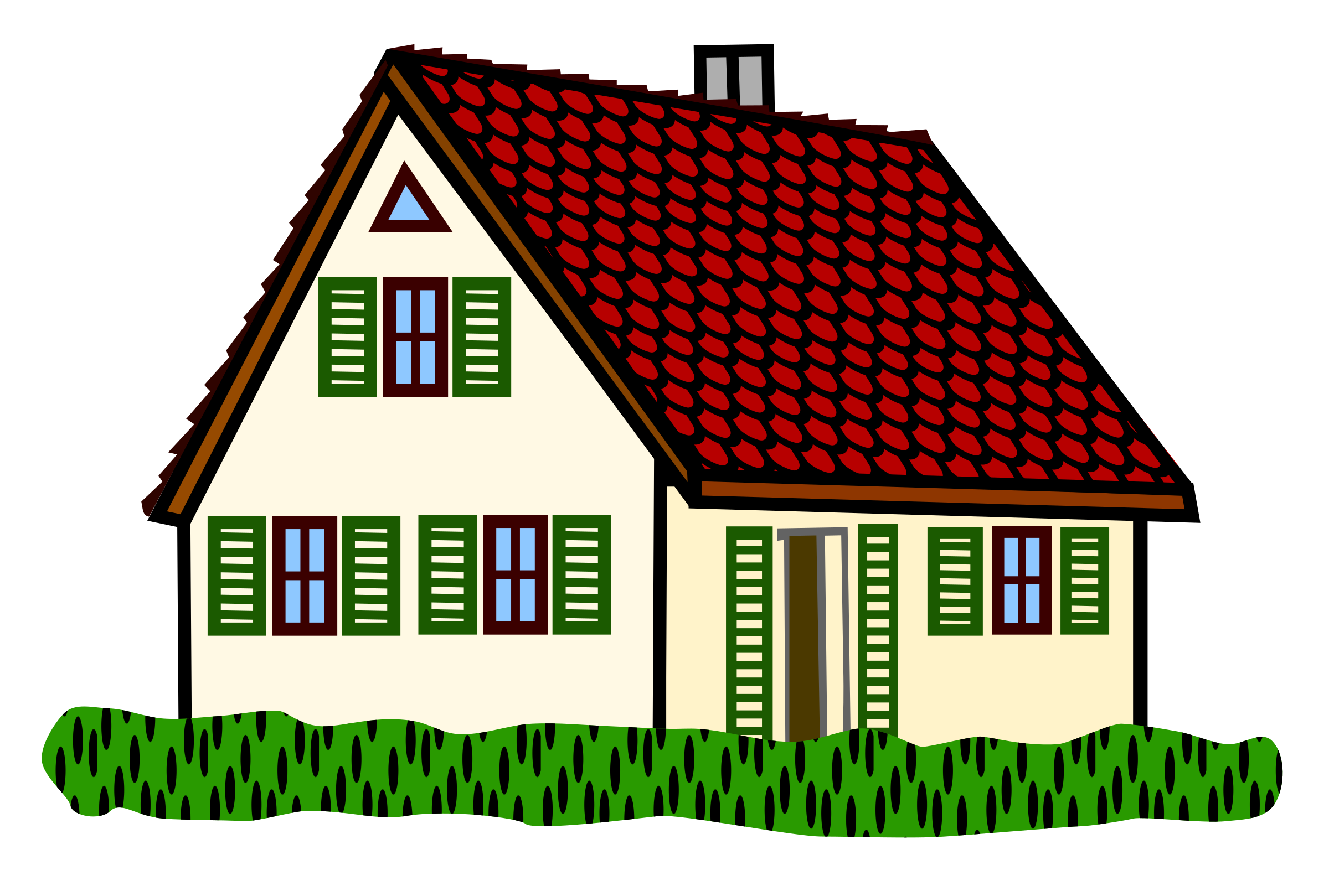 Cottage clipart thatch. House coloured big image