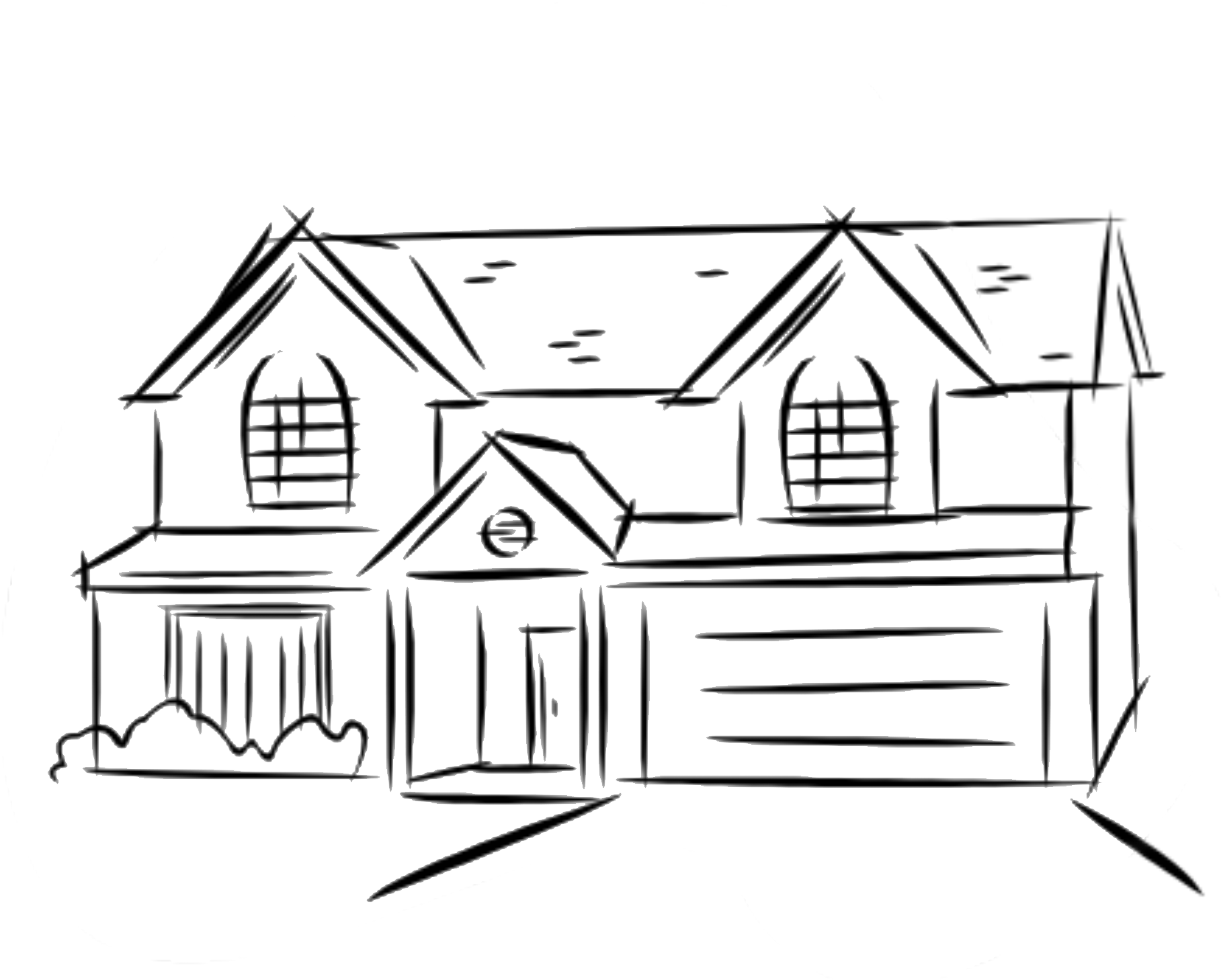 Clipart pencil simple. House drawing at getdrawings