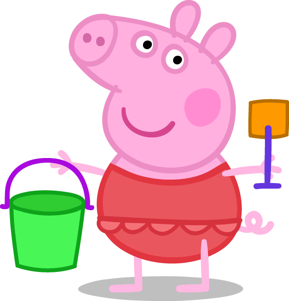 Peppa happy pinterest. Pig clipart beach