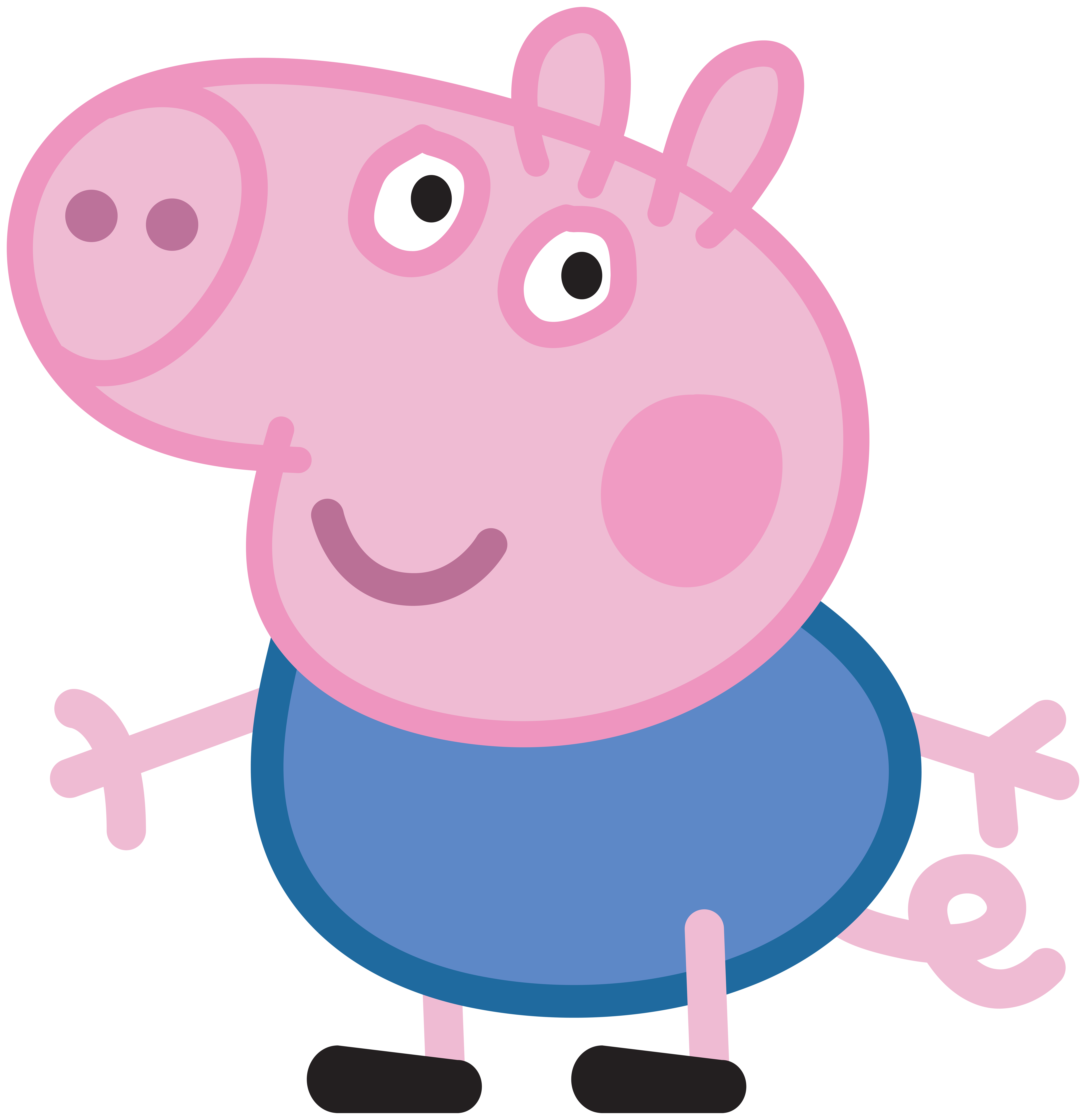 Clipart swimming pig. George peppa transparent png
