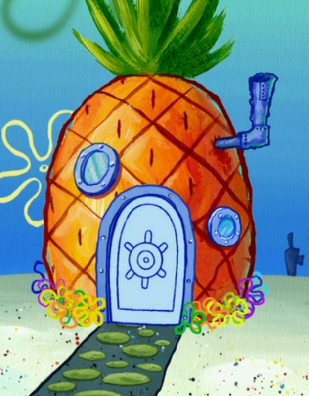 Free house pineapple download. Houses clipart spongebob's