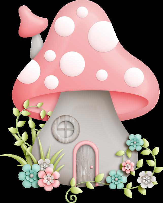 Mushrooms clipart mushroom home. House pinterest