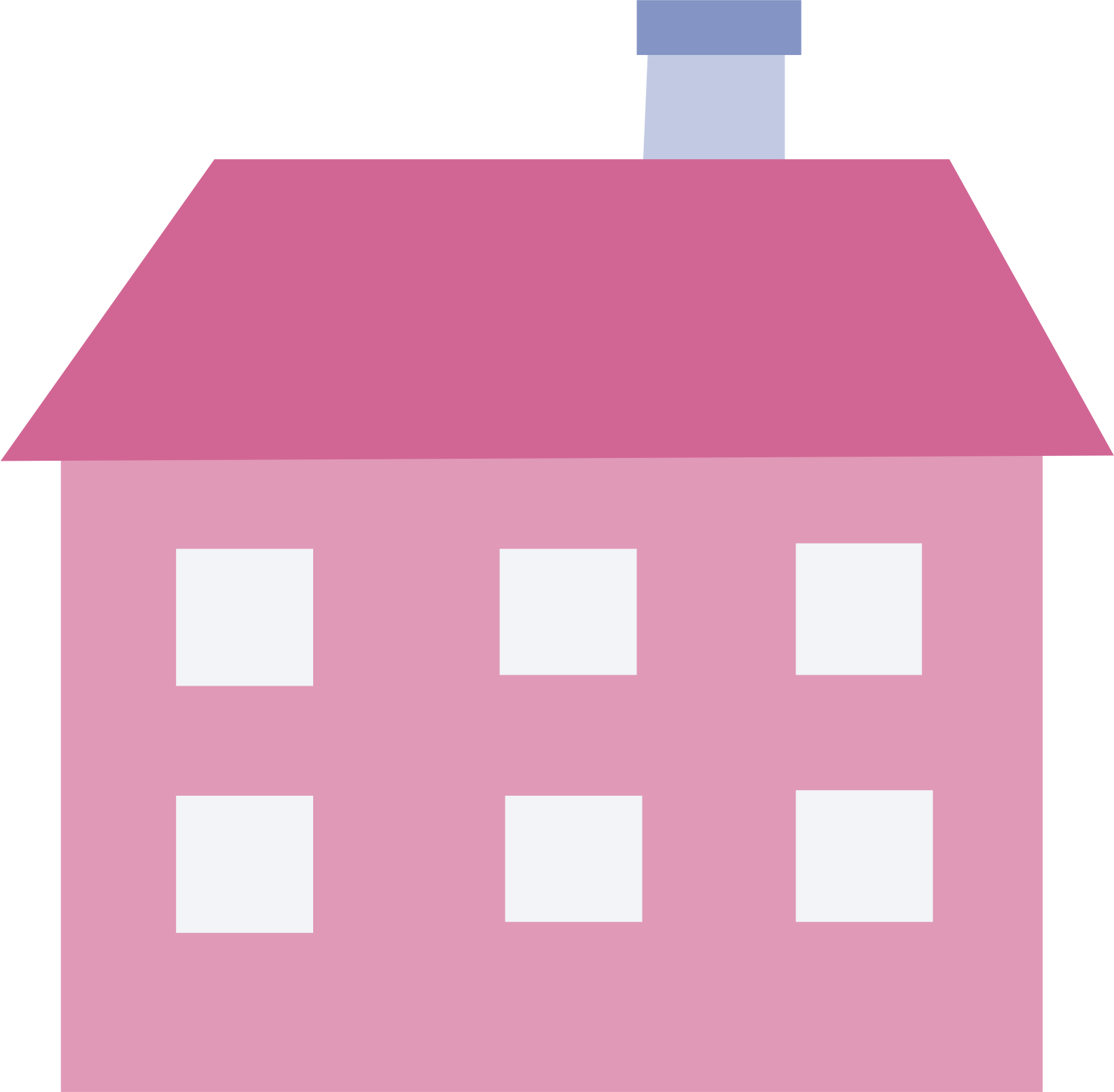 Clipart big image. Pink house png