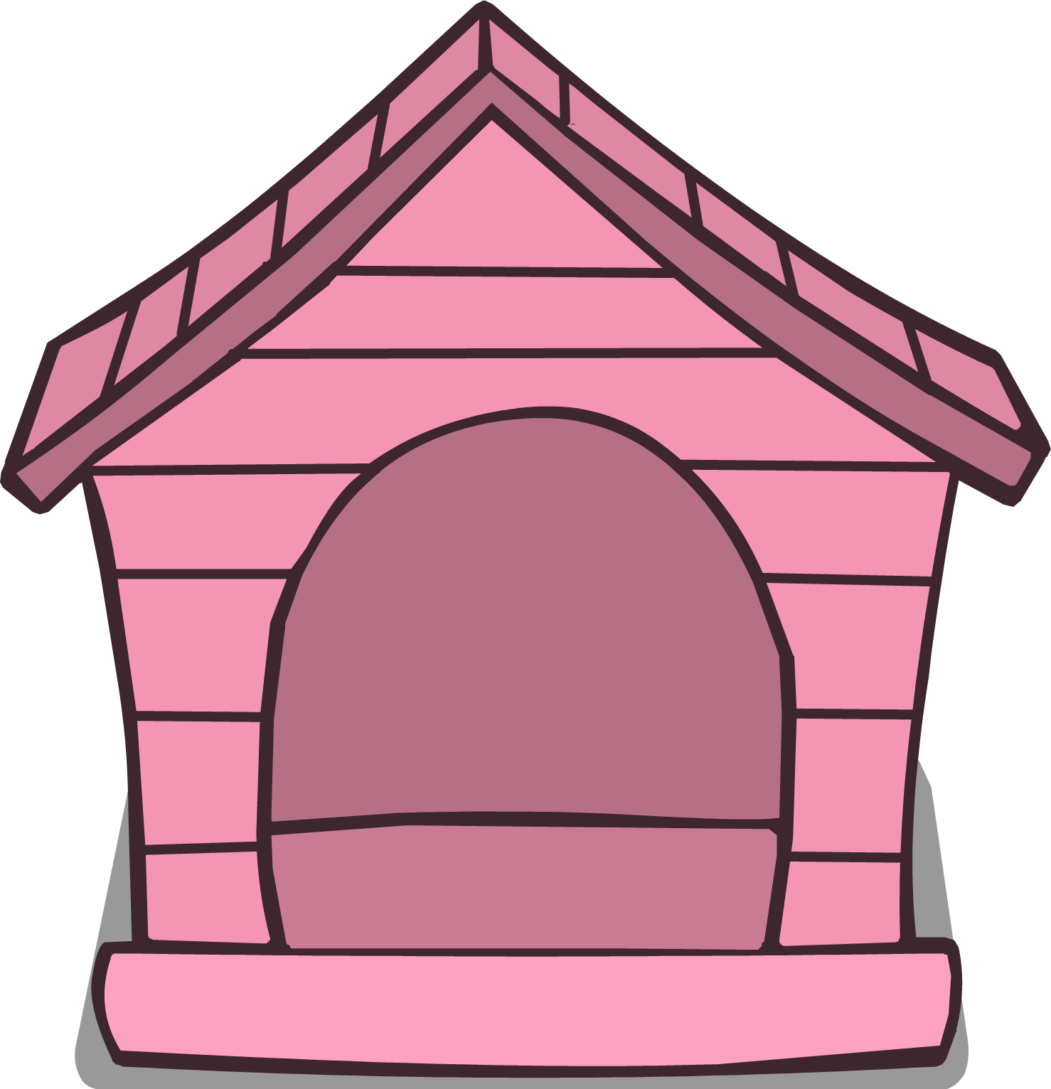 Pink house png. Image club penguin rewritten
