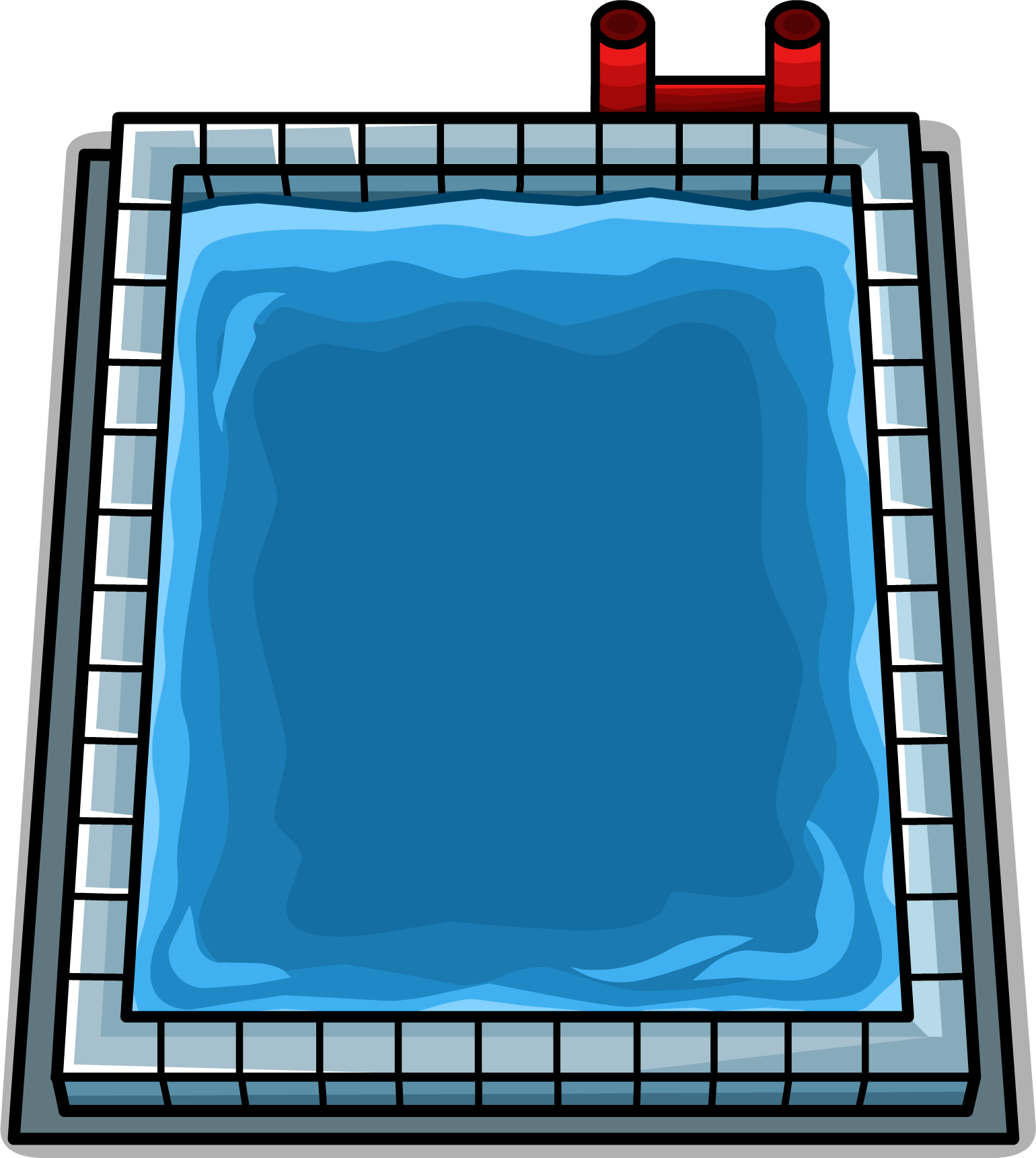Swimming group image sprite. House clipart pool