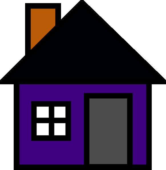 Purple house clip art. L clipart building