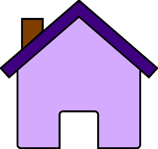 House clip art at. Square clipart purple