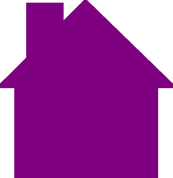 Logo clip art at. House clipart purple