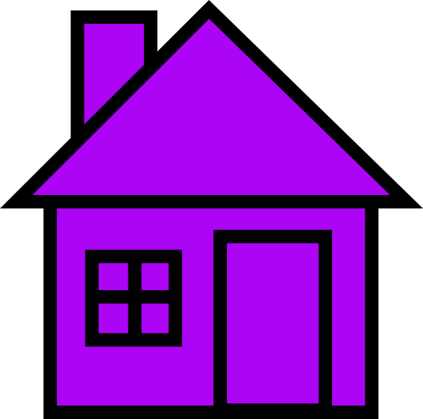House clipart purple. Clip art at clker