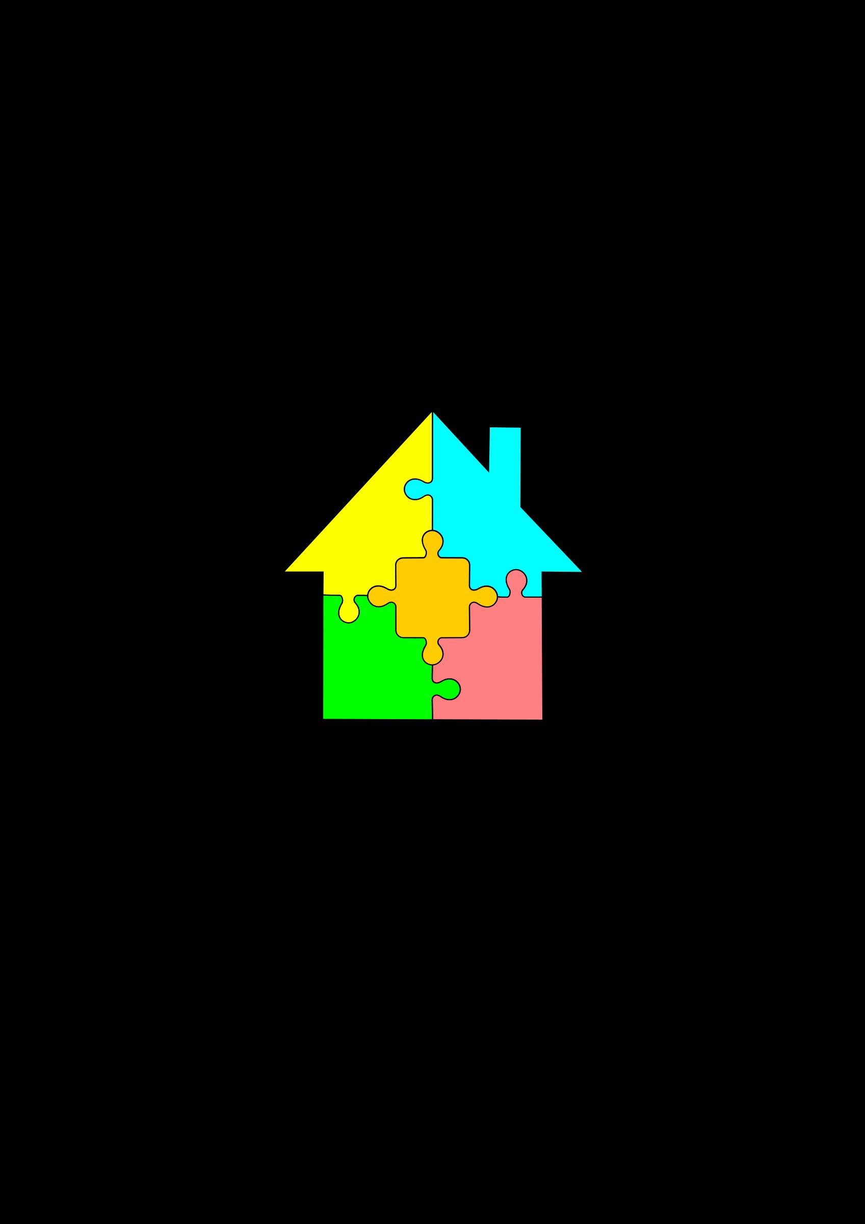 Puzzle clipart house. Big image png