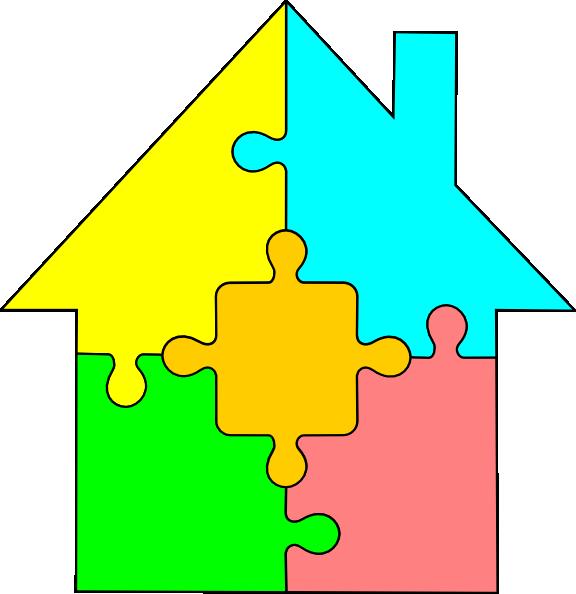 clipart house puzzle