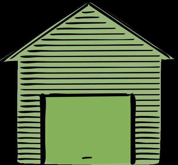 L clipart building. Green shed clip art