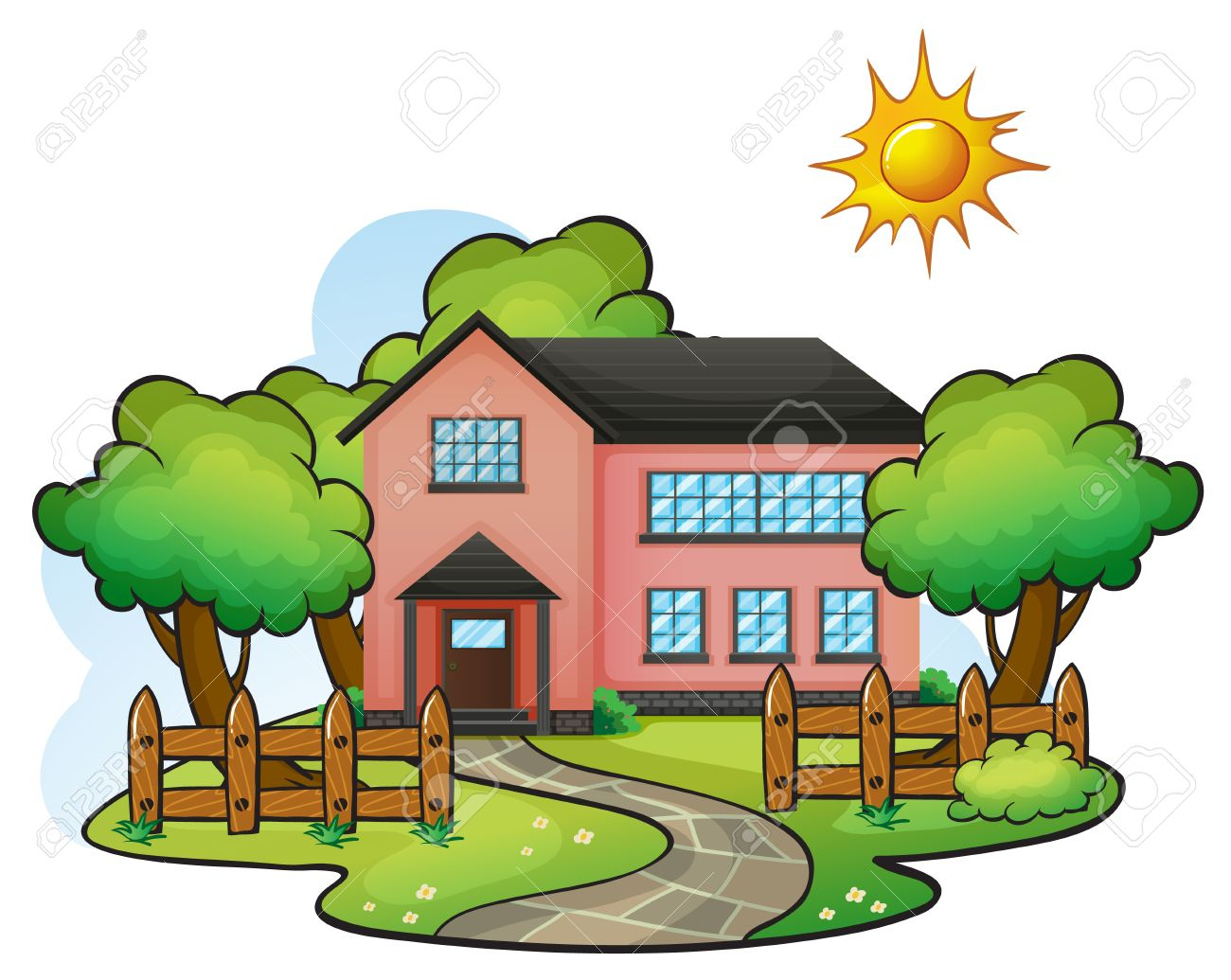 Home clipart scenery. Collection of free download