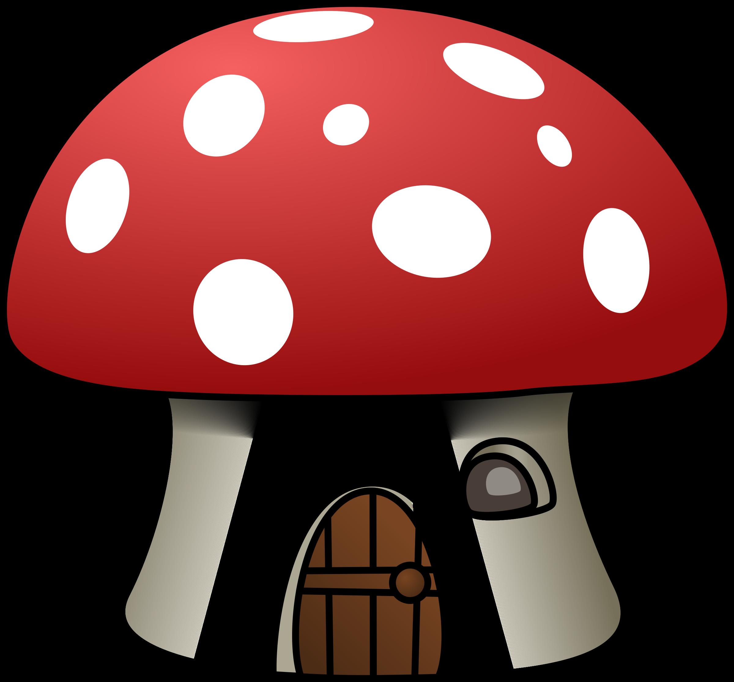 Mushroom house big image. Mushrooms clipart scenery