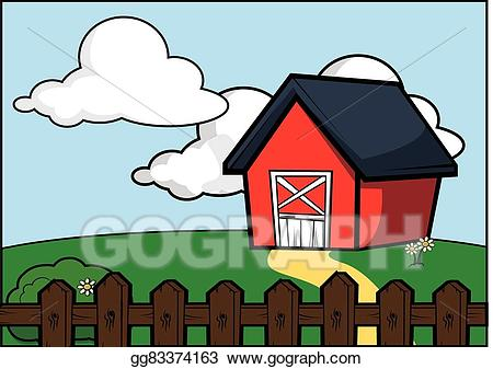 Home clipart scenery. Vector art country side
