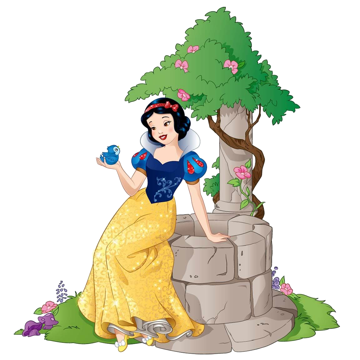 Houses clipart snow white. Image and little bird