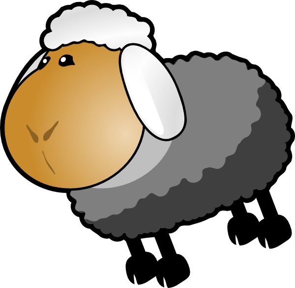 Dark grey yellow clip. Home clipart sheep