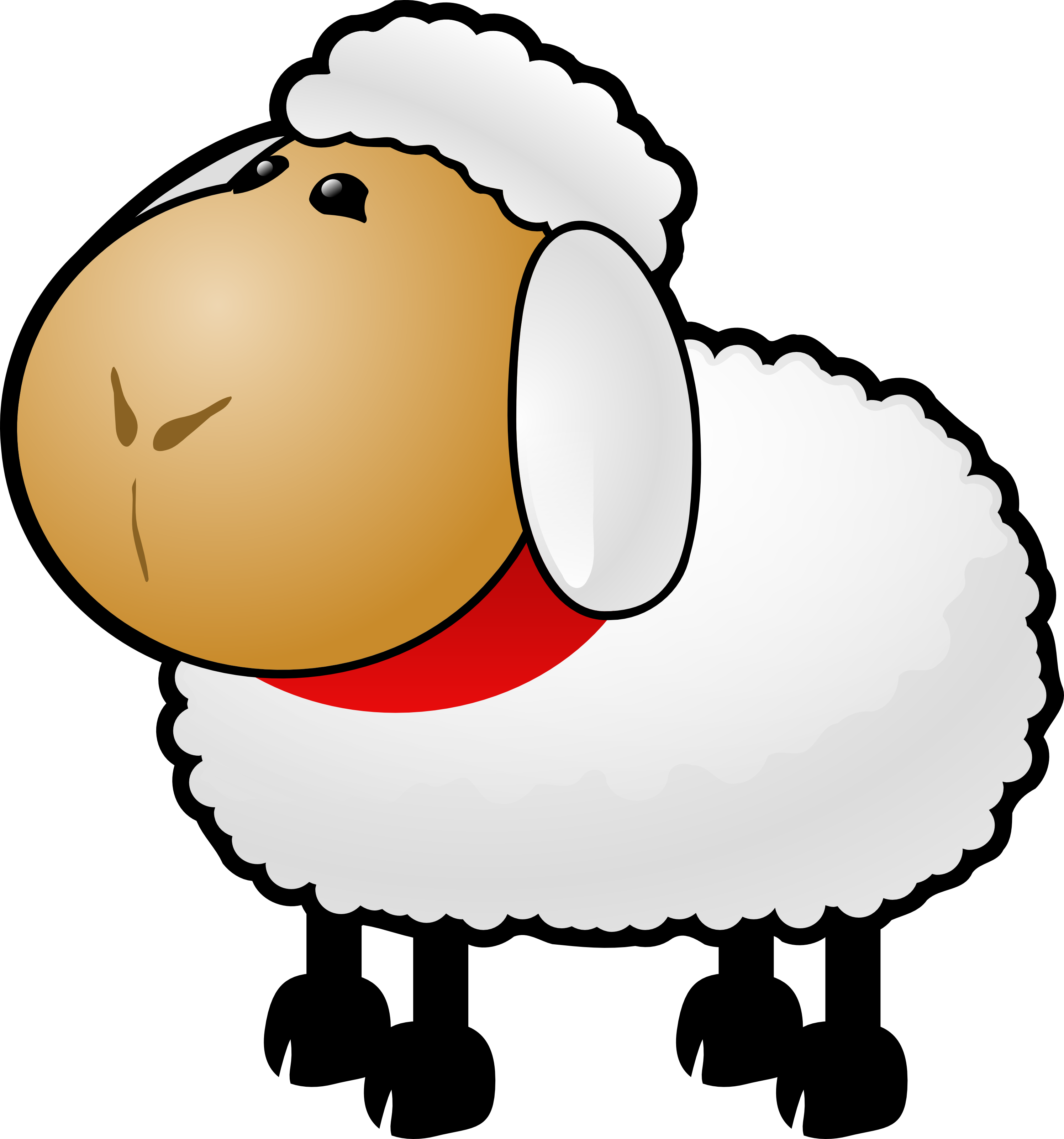 Free download of icon. Footprint clipart sheep