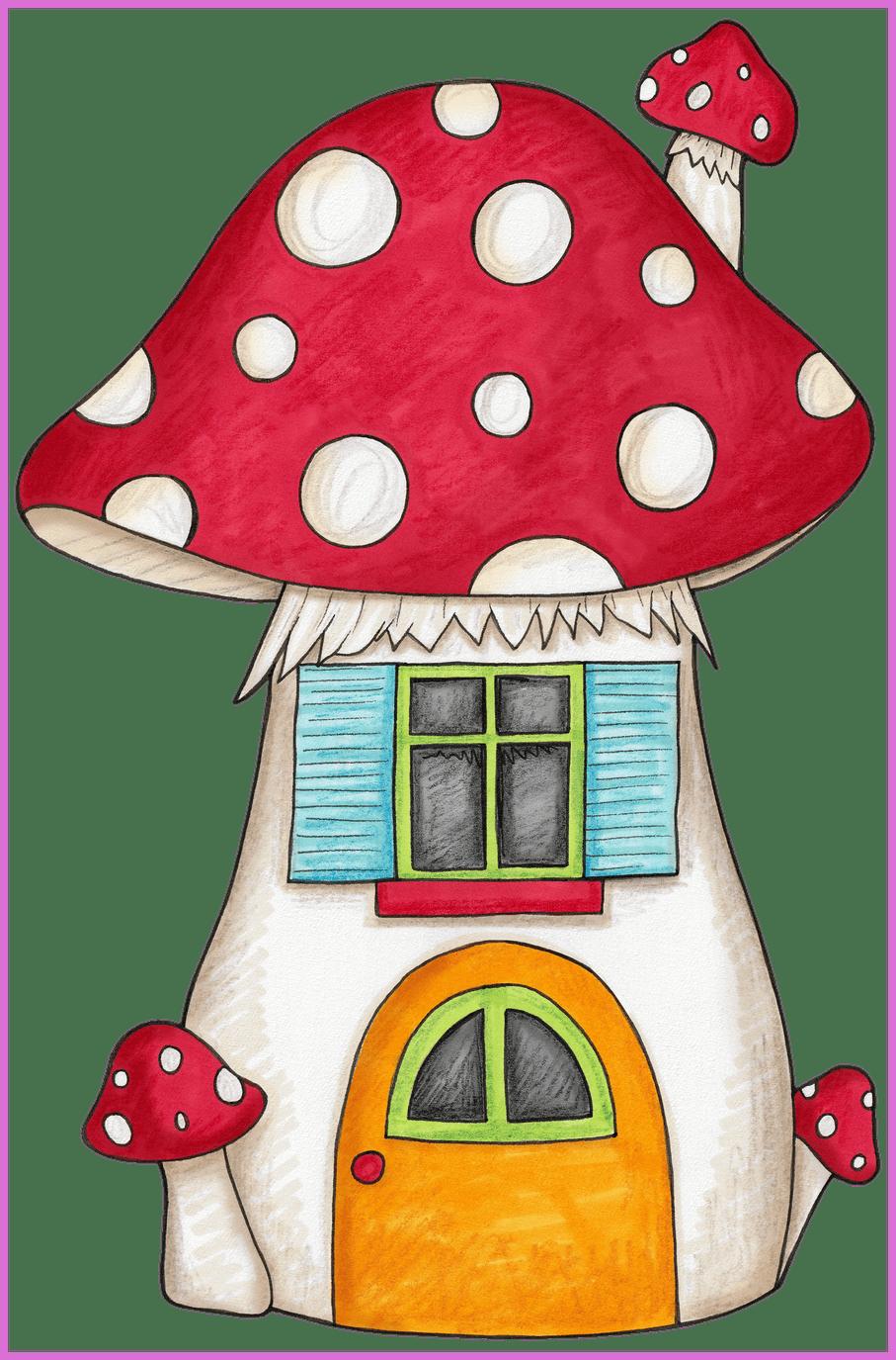 Marvelous mushroom for an. House clipart shoe