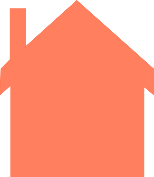 Houses clipart silhouette. Coral house clip art