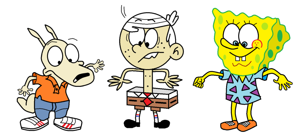 Houses clipart spongebob's. Rocko lincoln and spongebob