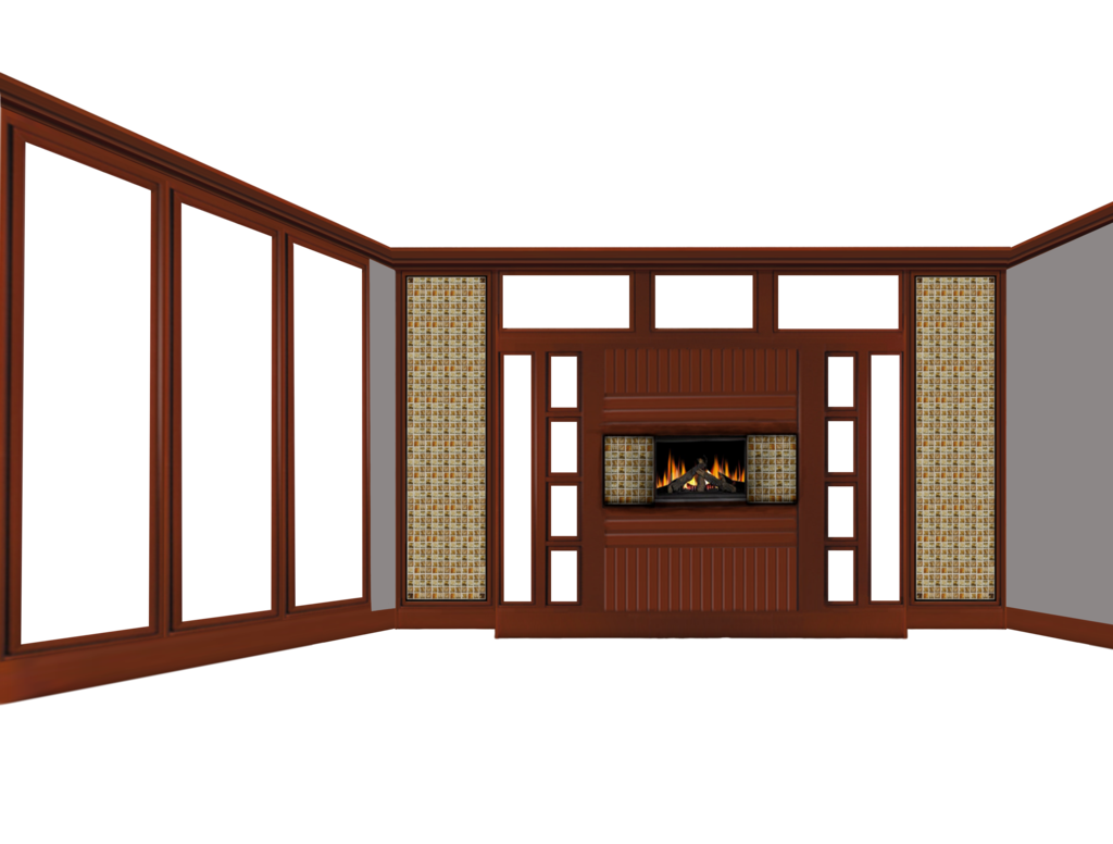 House clipart room. Empty with fireplace by