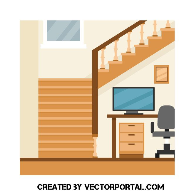 Staircase clipart house. To the attic free