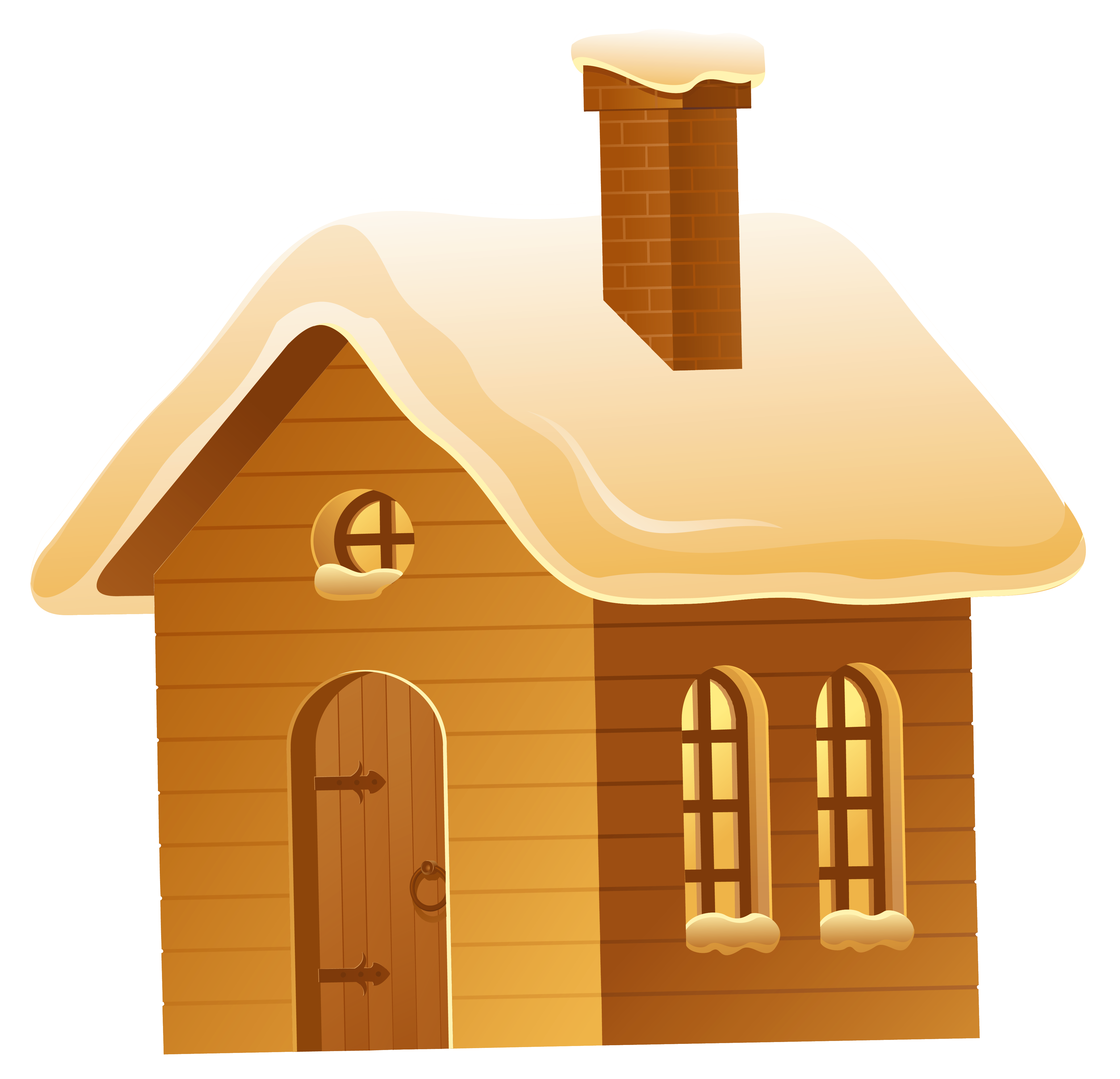 Winter house png picture. Houses clipart brown