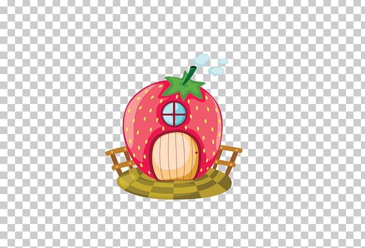 Houses clipart strawberry. House cartoon illustration png