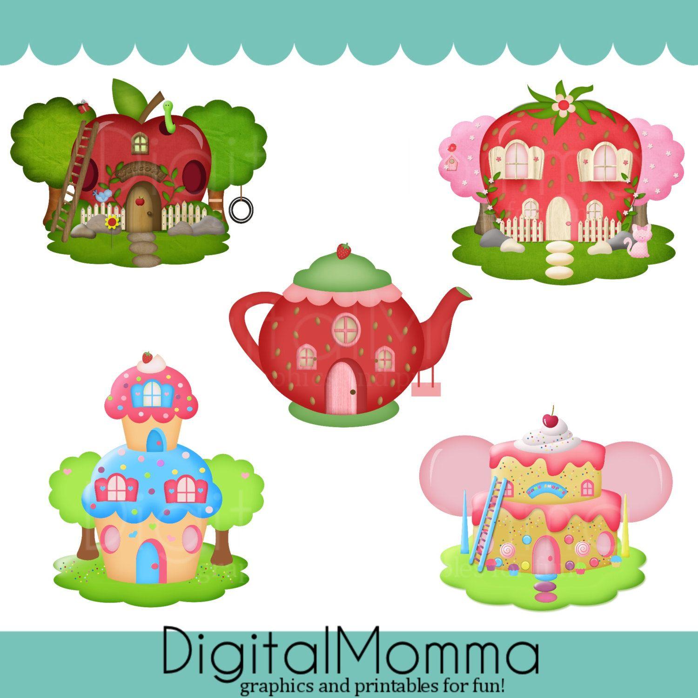Character shortcake door . Houses clipart strawberry