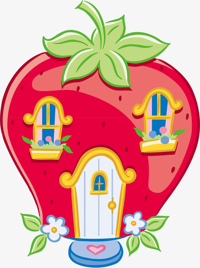 Houses clipart strawberry. House shortcake
