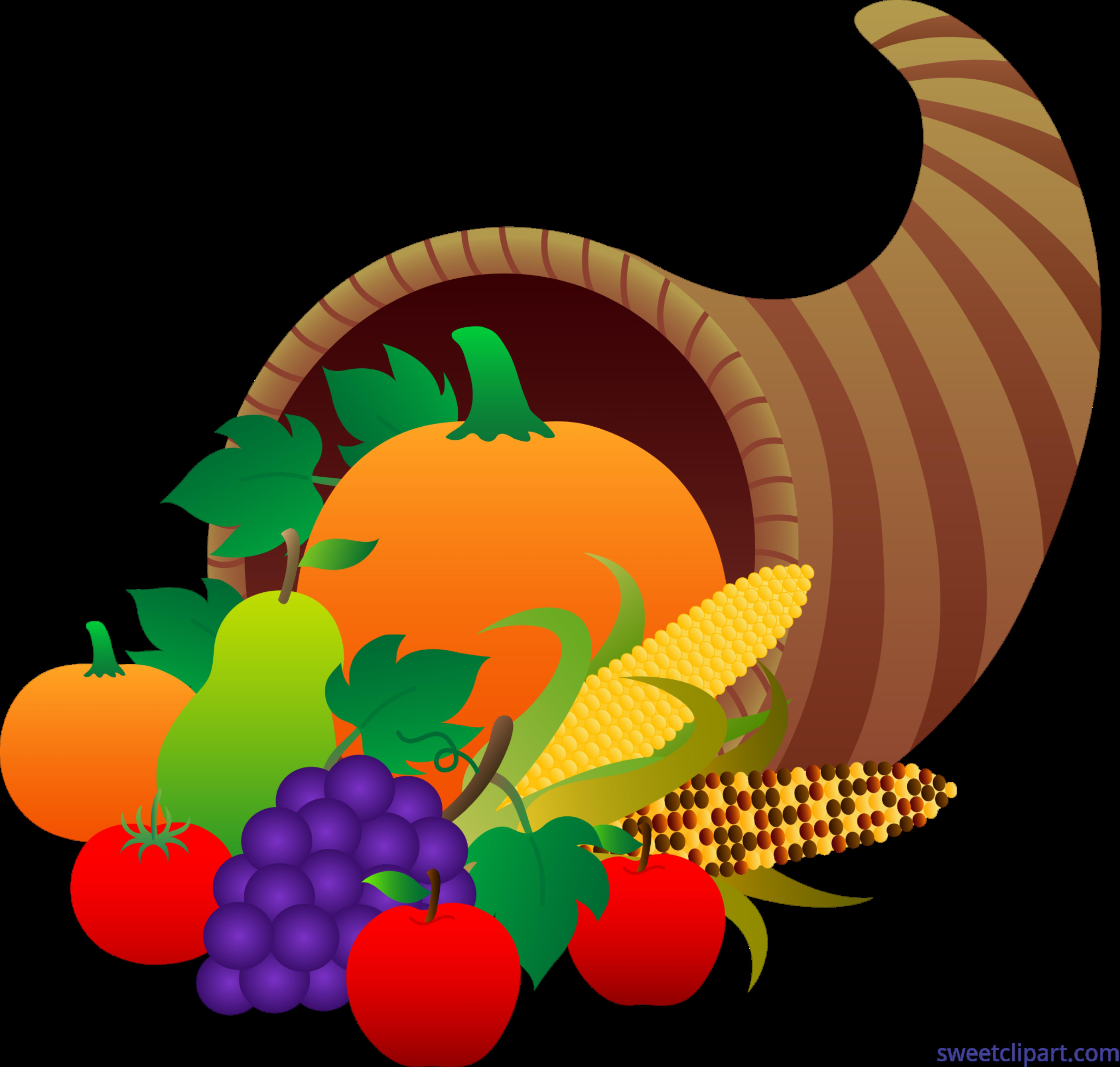 House clipart thanksgiving. Cornucopia clip art sweet
