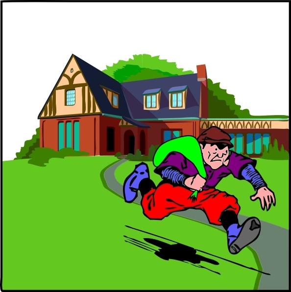Houses clipart theft. House robbery clip art