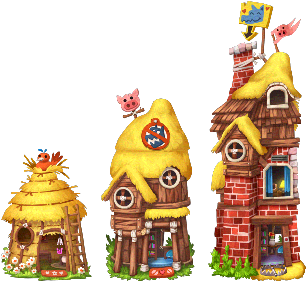 Houses clipart three little pig. Image fairytales house pigs