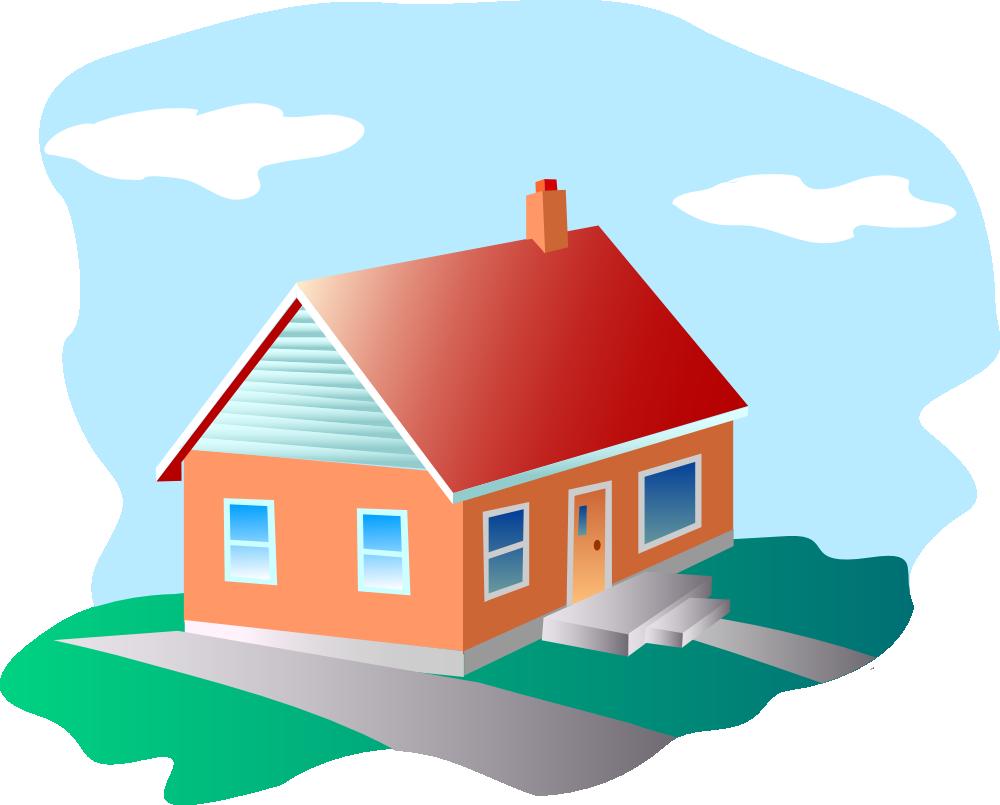 Onlinelabels clip art house. Home clipart place